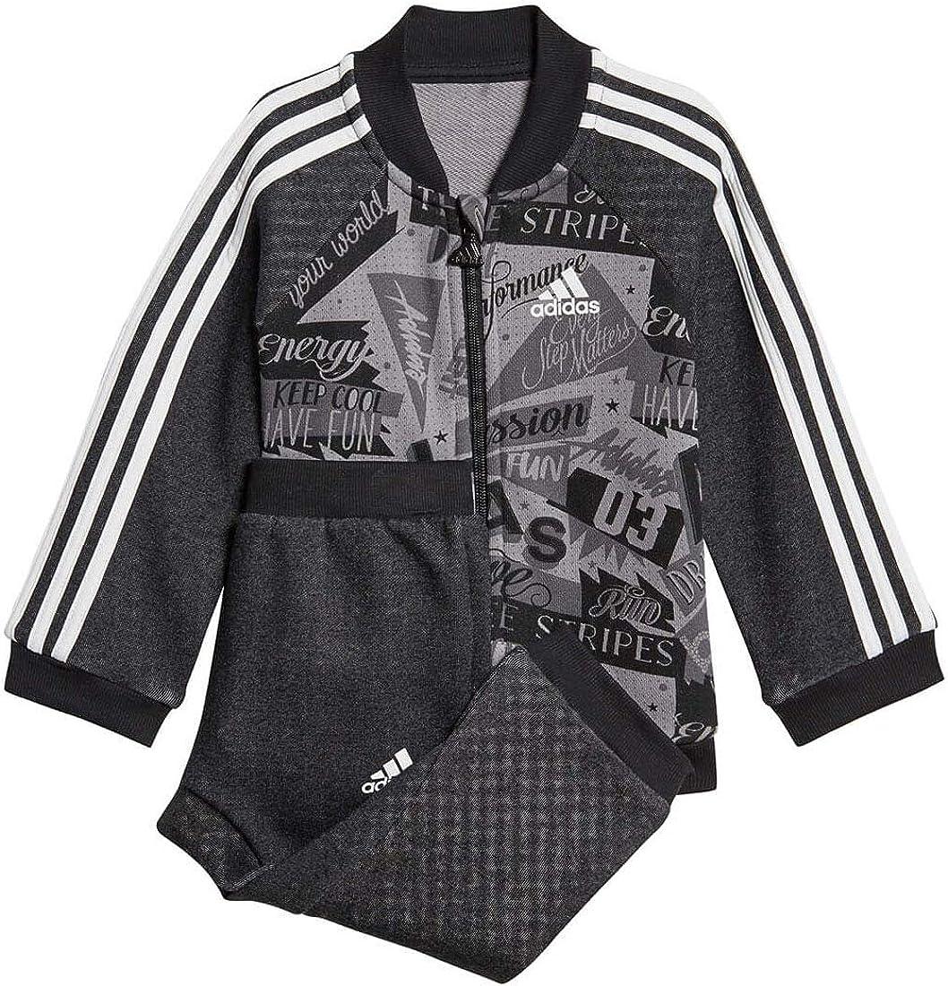 adidas Chándal de Baloncesto gráfico para niños Negro Black, Grey ...