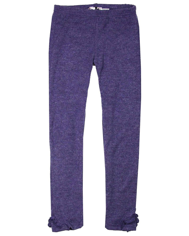 Sizes 5-12 Deux par Deux Girls Leggings in Violet Circle of Friends