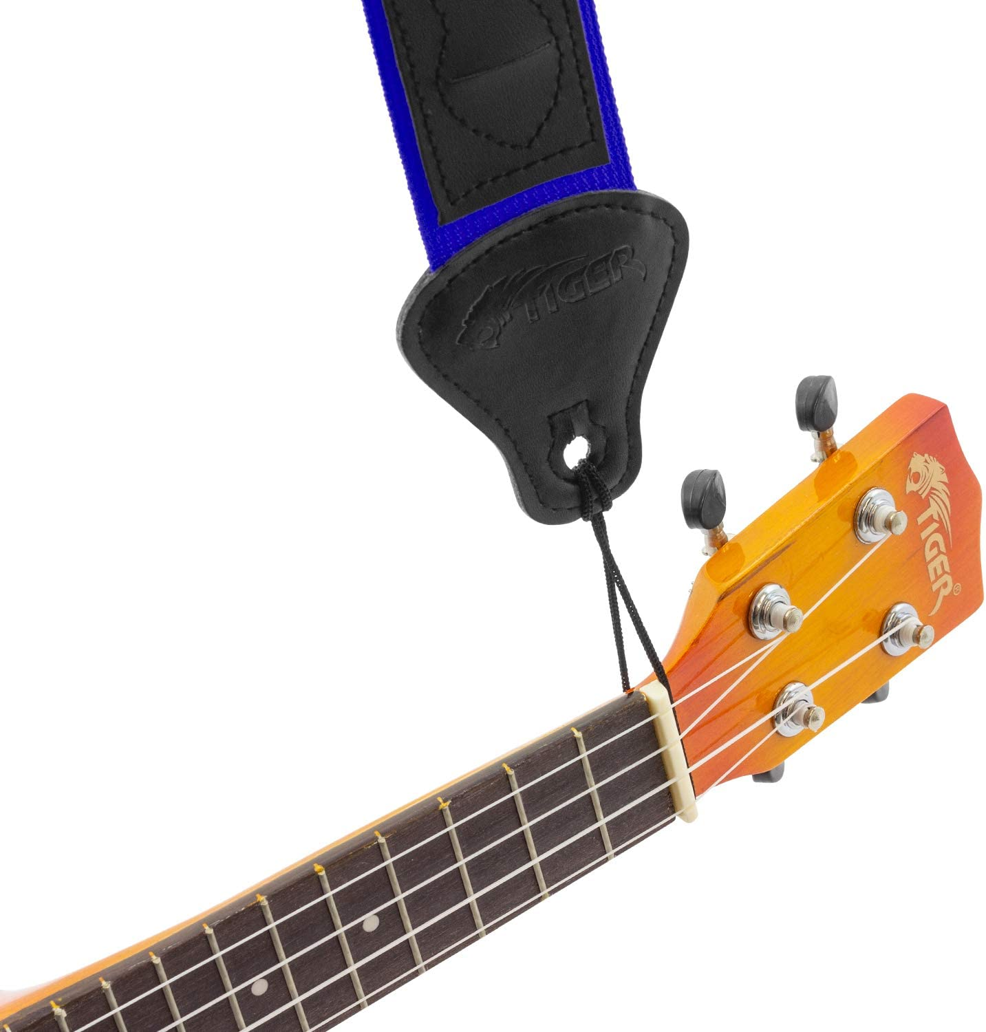 Blue,UAC4-BL Concert Tenor and Baritone Ukes with Pick Holders Tiger UAC4 Ukulele Strap for Soprano