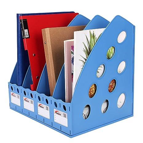 Desk Accessories & Organizer Office & School Supplies 3 Sections Paper Book Blue Black Storage Organizer Folder Magazine File Case Folder