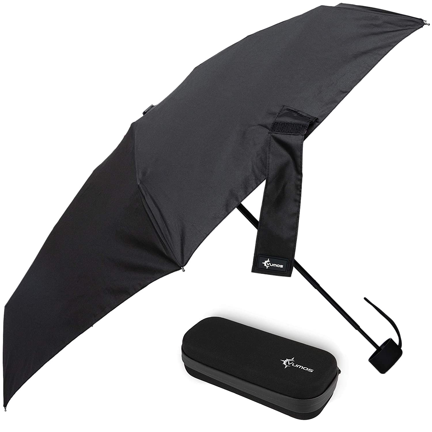 Small and Compact for Backpack or Purse Travel Umbrella with Waterproof Case Great Umbrella for Women Men or Kids. Classic Gray