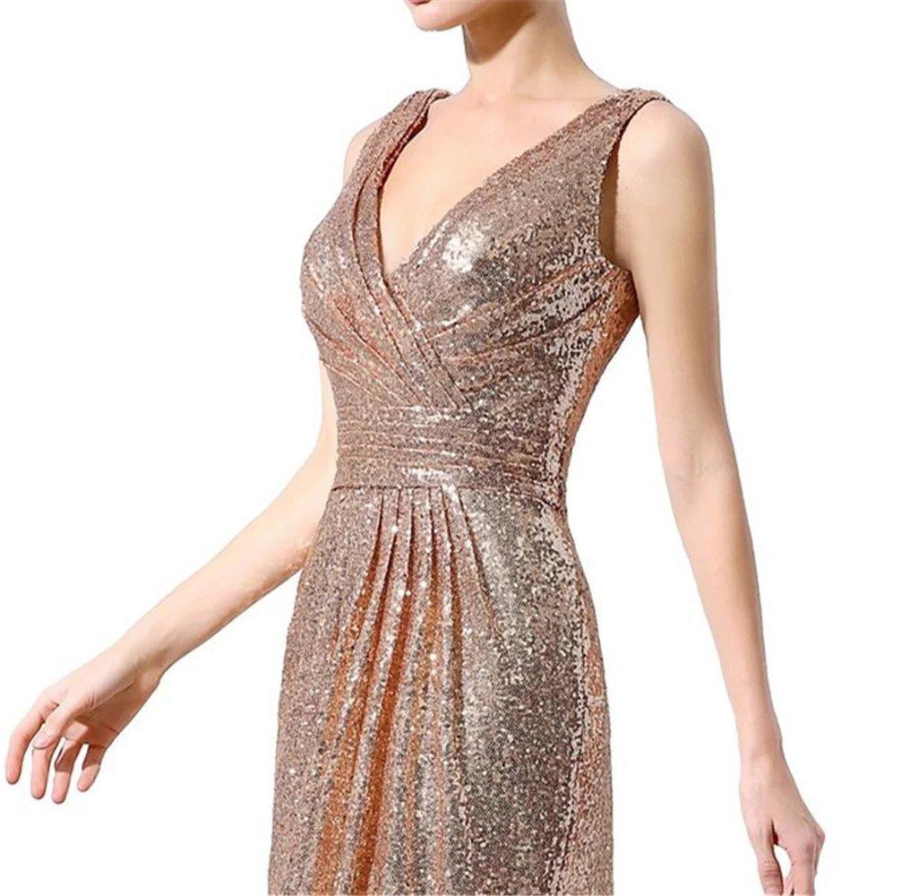 98a372816d1 ... Plus LanierWedding Gold Sequins Bridesmaid Dresses Plus Size Prom  Dresses 601 Gold Size 10.   