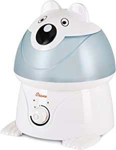Crane Adorables Ultrasonic Cool Mist Humidifier, Filter Free, 1 Gallon, 24 Hour Run Time, Whisper Quite, for Home Bedroom Baby Nursery and Office, Polar Bear