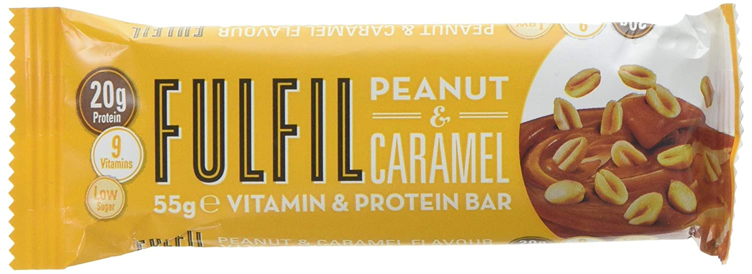 827db4115 Fulfil Peanut and Caramel Vitamin and Protein Bar - Pack of 15   Amazon.co.uk  Health   Personal Care