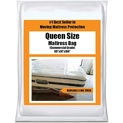 Bon Amazon.com: Queen Mattress Bag Cover For Moving Or Storage   5 Mil Heavy  Duty Thick Plastic Wrap Protector Reusable Bags Supplies: Home U0026 Kitchen