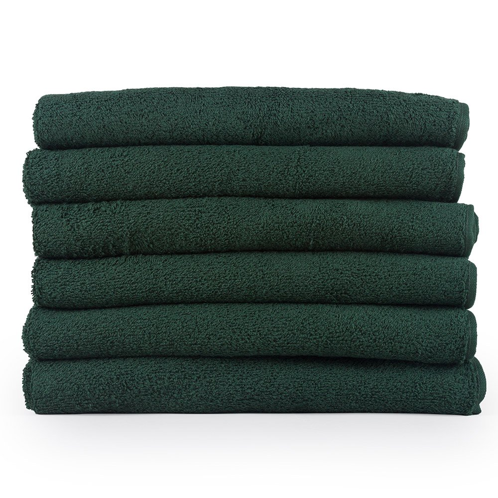 Westward Ho! 390 GSM Cotton Bath Towel (6 Pack), Dark Green