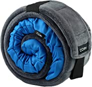 CORI Travel Pillow - World's 1st Customizable Memory Foam Travel Neck Pillow That ADAPTS to You for The Best Support, Comfort & Portability (CORI Blue)