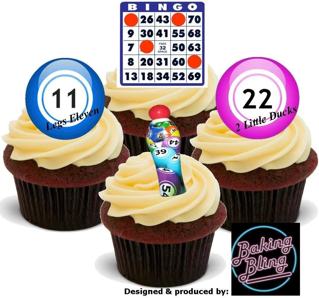 PERSONALISED 7.5 INCH ROUND BINGO BALL//S ICING// RICE PAPER CAKE TOPPER 1