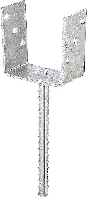 GAH-Alberts - Anclaje en U para postes con anclaje de acero (galvanizado al fuego): Amazon.es: Bricolaje y herramientas