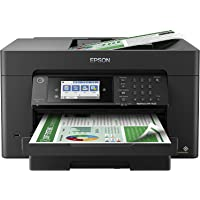 Epson Workforce Pro WF 7800 Series Wide-Format Wireless All-in-One Color Inkjet Printer - Print Copy Scan Fax - Mobile…