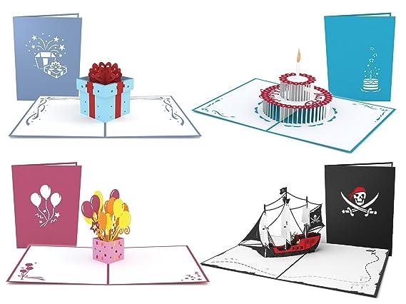 Amazon.com: lovepop Cumpleaños Kit 4 PACK 3d Popup Regalos ...