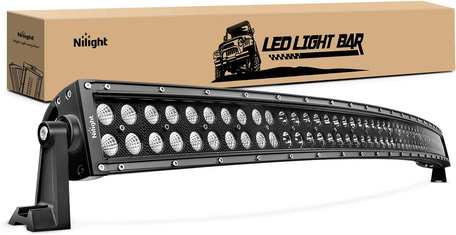 Amazon Com Nilight 71015c A 50inch 288w Curved Led Work Light Driving Fog Lamp Led Light Bar Offroad Lighting For Suv Ute Atv Truck 4x4 Boat 2 Years Warranty Automotive