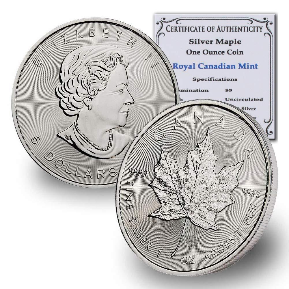 BU $5 1 oz 1996 Canada Silver Maple Leaf