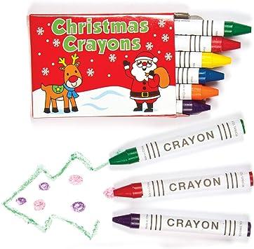 Baker Ross Mini lápices de Colores navideños: Supplies Materiales de Arte creativos para Manualidades, proyectos y Decoraciones para niños, Fiesta (Paquete de 8 Juegos): Amazon.es: Juguetes y juegos