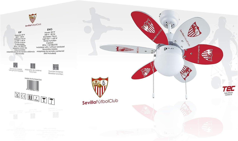Bastilipo 7722-Sevilla FC-Ventilador de Techo con Palas ...