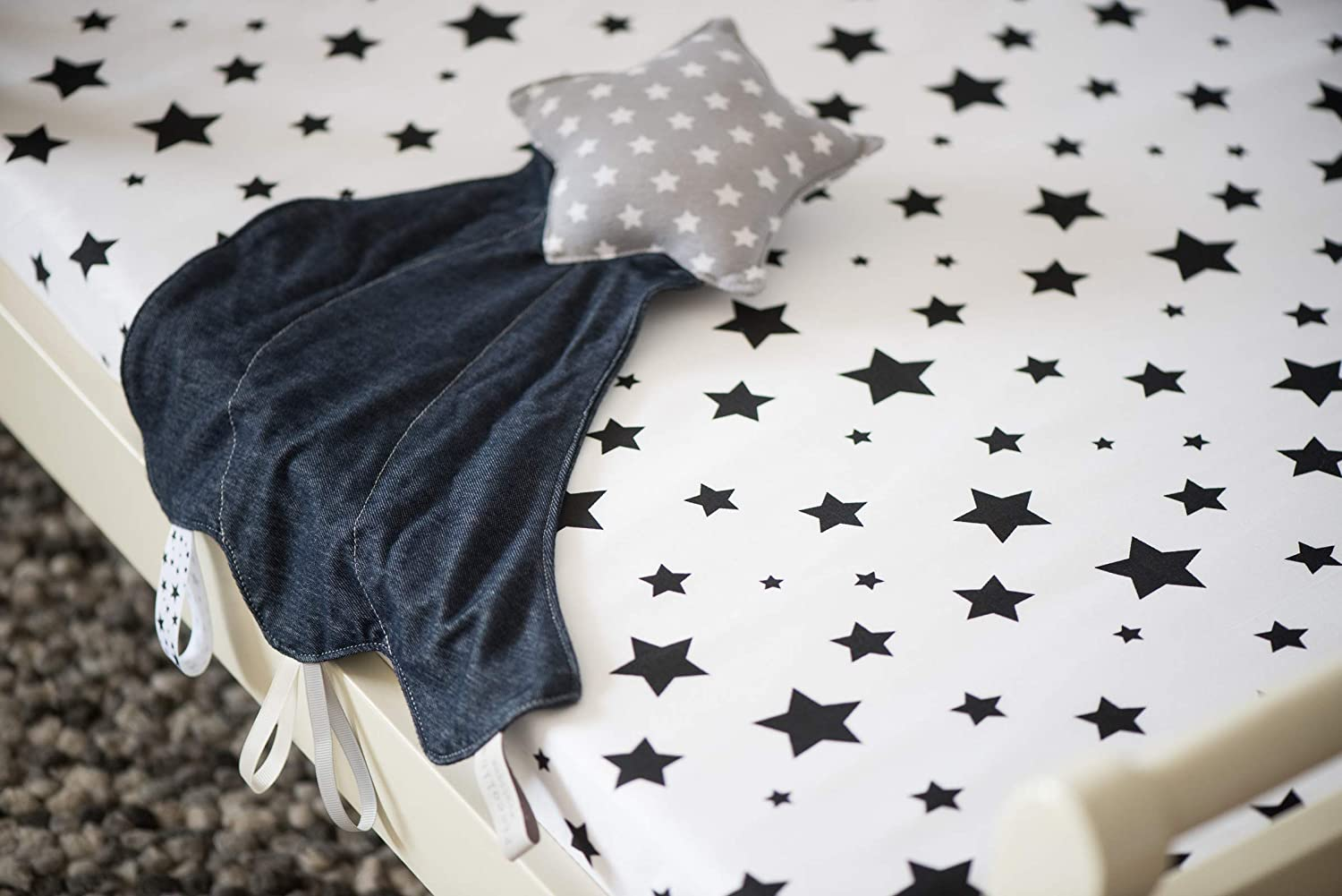 Security Object Baby Toy for Boy or Girl Star Toy Shooting Star Security Blanket-Grey Soft Toy Transitional Object