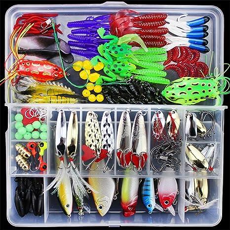 One Set with box Fishing Lures Saltwater Freshwater CrankBait Bionic Fish Hooks