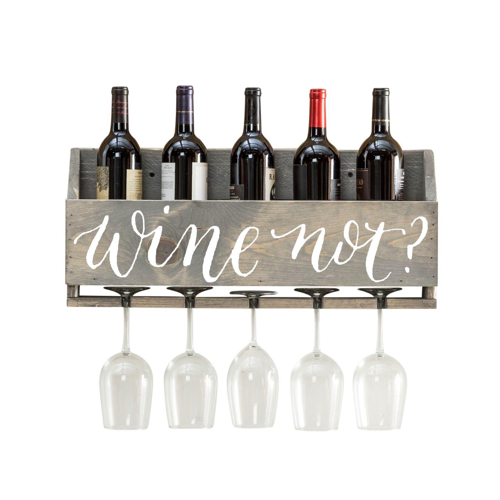 del Hutson Designs Le Luxe Wine Rack (Wine Not? - Gray)