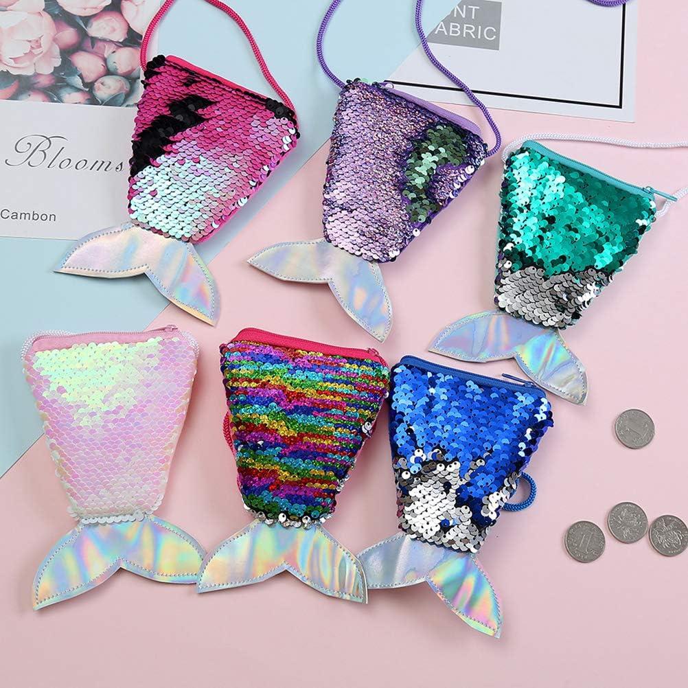 Poluka Lot de 6 sacs /à main en forme de queue de sir/ène pour filles
