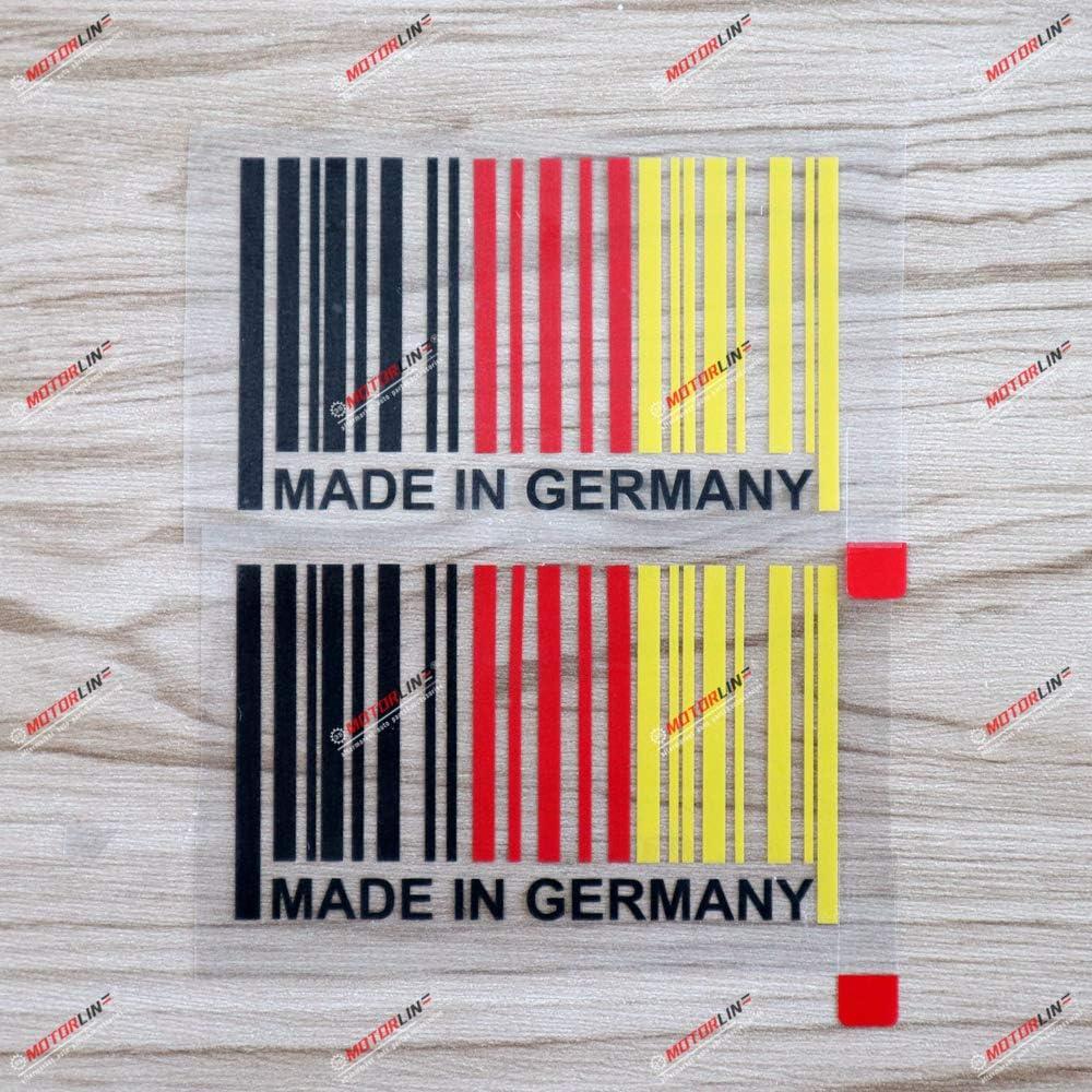 3S MOTORLINE 2 Pack 4 Made in Germany German Flag Decal Sticker Car Vinyl sda1