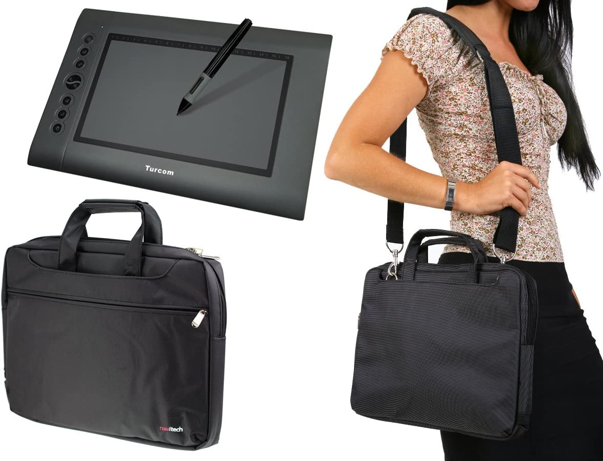 Navitech Red Graphics Tablet Case//Bag Compatible with The Turcom TS-6610 Graphic Tablet