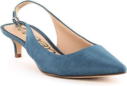 Sam Edelman Womens Ludlow Silk Slingback Pumps Storm Blue Silk Size 9M