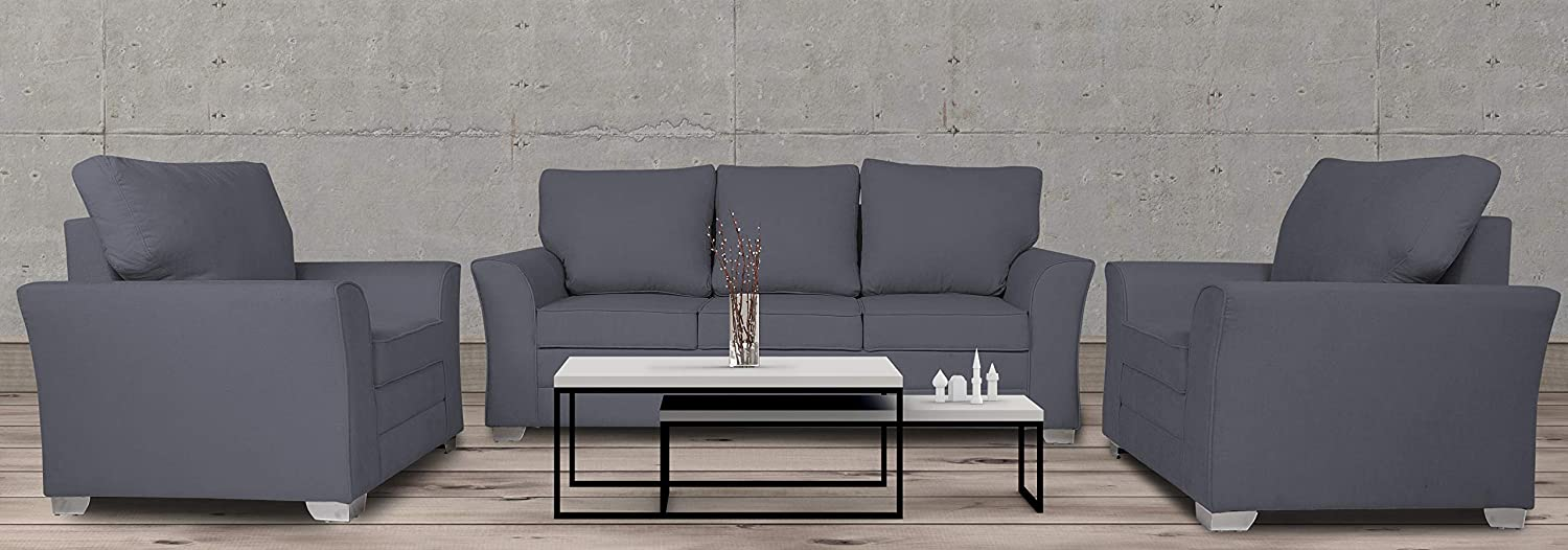 Sensational Adorn India Alexia 3 1 1 Sofa Set Grey Cjindustries Chair Design For Home Cjindustriesco
