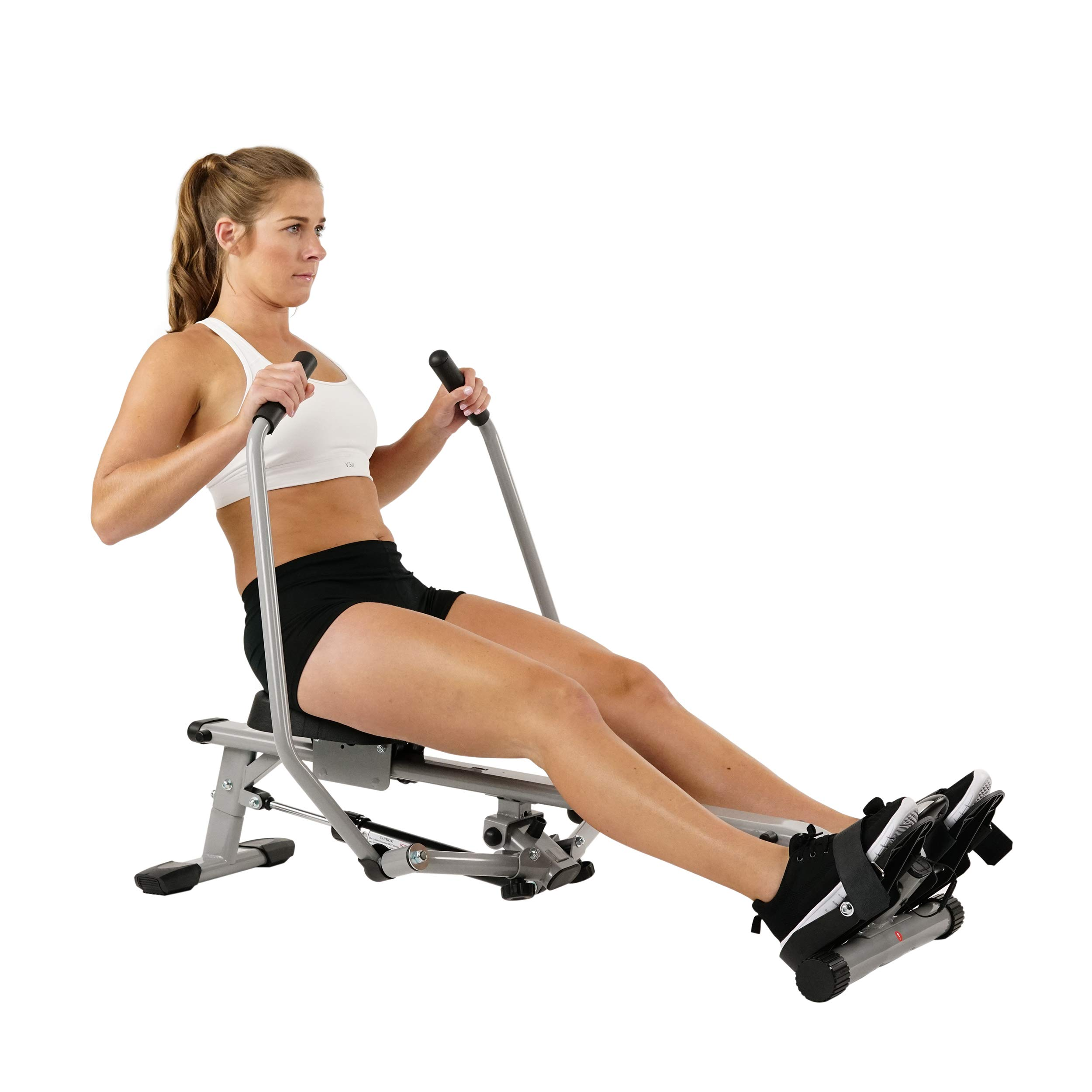 Sunny Health & Fitness SF-RW5639 Full Motion Rowing Machine Rower w/ 350 lb Weight Capacity and LCD Monitor by Sunny Health & Fitness (Image #1)