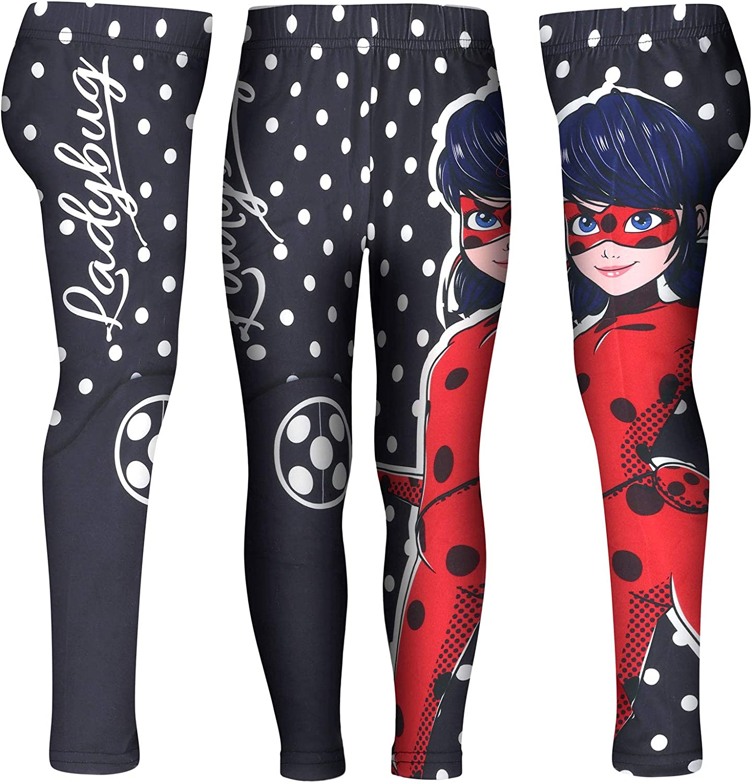 M/ädchen Full Print Miraculous LadyBug und Cat Noir Leggings aus Polyester