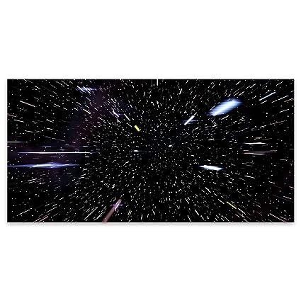 Negro Star Wars espacio Hyperdrive Fantasía Acrílico decorativo de cristal, acrílico, negro, Large