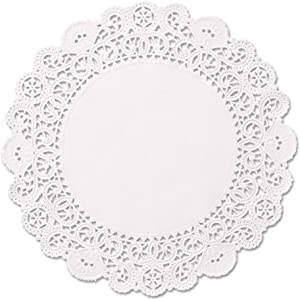 Round Paper Lace Table Doilies – 12 inch White Decorative Tableware Disposable Placemats (Pack of 50)