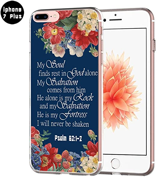 official photos 90090 5c4cb Case for iPhone 8 Plus Bible Verses Design - Topgraph [Exact Slim Fit Clear  with Design Full Coverage] Replacement Bumper Compatible for iPhone 8/7 ...