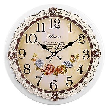 """Hense 16 """"retro vintage Jardín Estilo Madera Pared relojes salón suave barrido de segunda"""