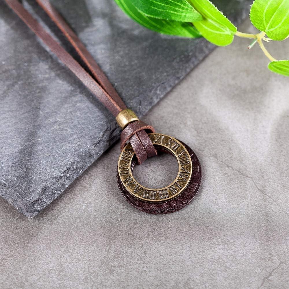 Mens necklace Necklace Men Jewelry Vintage Rome Genuine Leather Necklace Statement Necklaces /& Pendants Men Necklaces Women Choker Anime