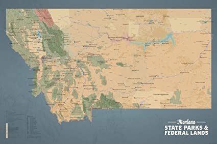 Amazon Com Best Maps Ever Montana State Parks Federal Lands Map