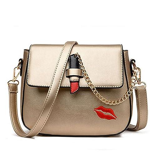 5fbf1c6c98f Amazon.com: Toping Fine Fashion Saddle Women Messenger Bags Chains ...
