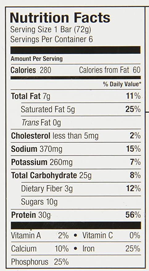 Premier Protein Bar, Blanco caramelo rosa 30 g Proteína, 6 Count