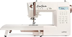 EverSewn Celine Computer-Controlled, 197 Stitch Patterns, 1 Full Alphabets-Perfect for The Creative Sewer and Quilter Sewing and Quilting machine, Blush
