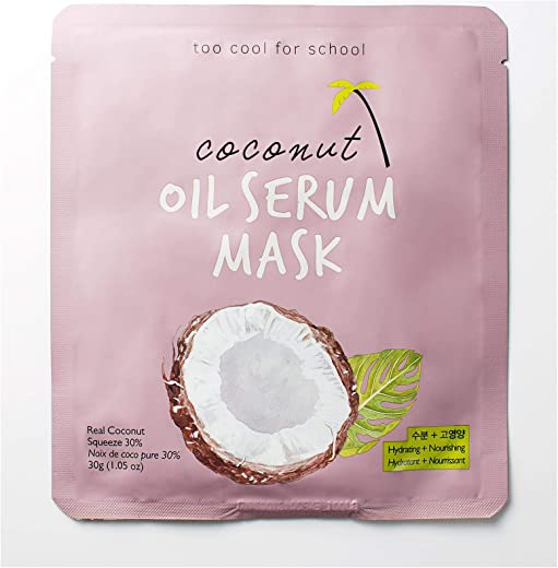 Too Cool for School, Coconut Oil Serum Mask