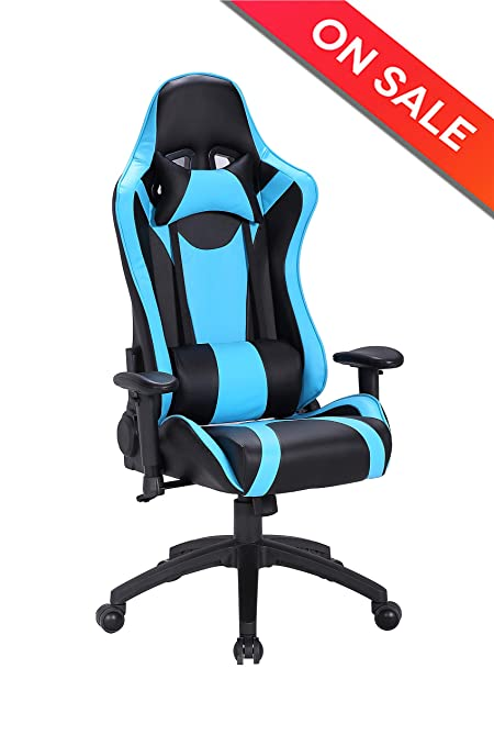 Chairs & Stools Office Chair Executive Racing Gaming Swivel Pu Leather Sport Computer Desk 50% OFF