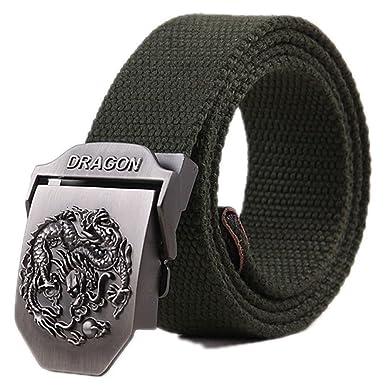 3a2cf12bbda Huoduoduo Ceintures pour hommes ceinture élastique élastique avec boucle  couverte pour jeans ceintures pour pantalons pour