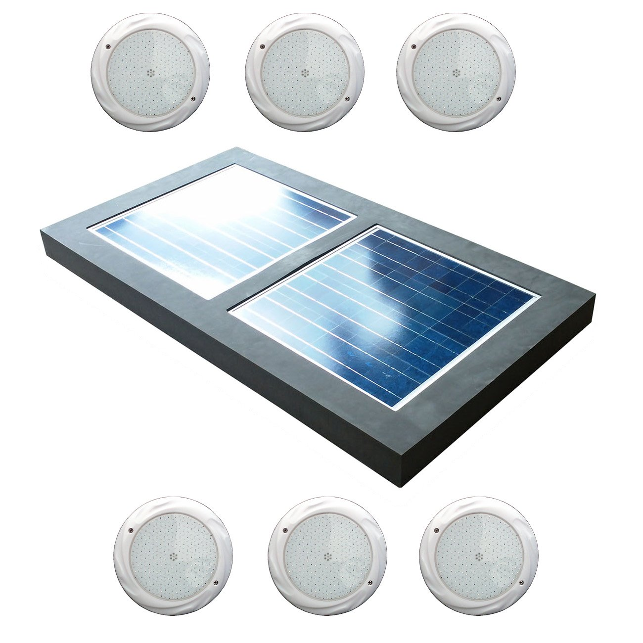 Natural Current Water Products NCS120WLT Savior Solar Powered Pool Spa Pond and Lake Light, 120-watt