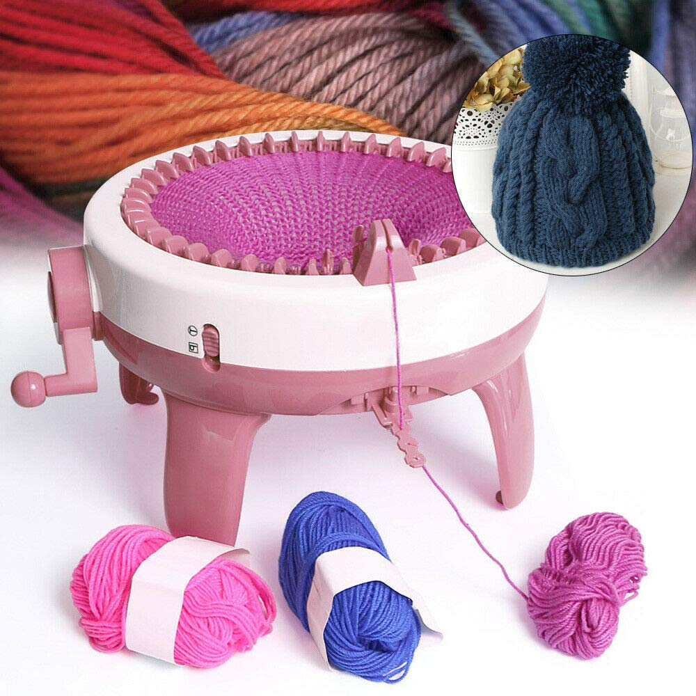 Hand Knitting Weaving Loom Machine for Scraf Hat Beginner Kids Learning Tool Toy Needles Knitting Kit Machine Knitting Board for Kids
