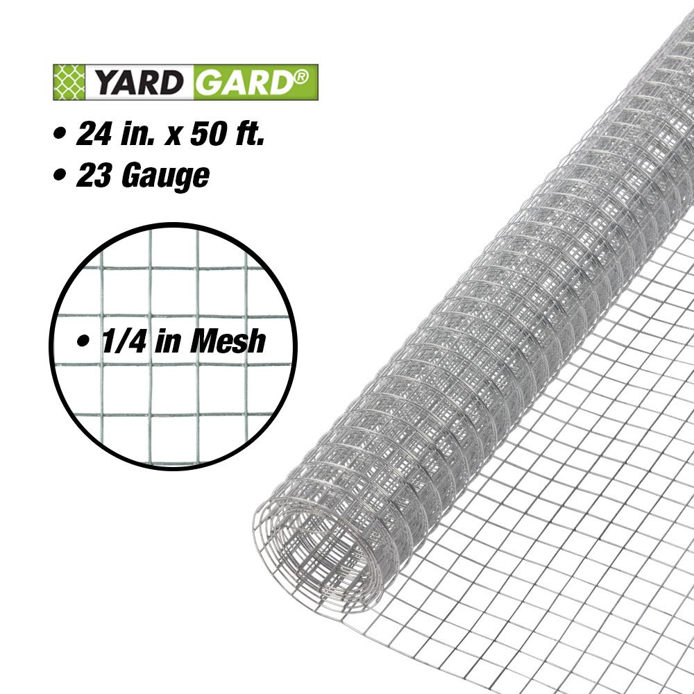Amazon.com : YARDGARD 308247B 24-Inch x 50-Foot 1/4-Inch Galvanized ...
