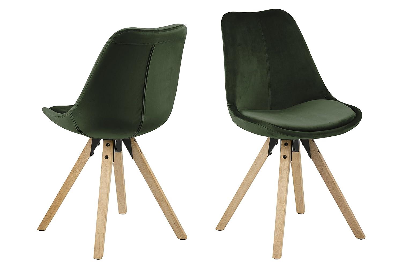 AC Design Furniture Stuhl Nadia, B  48,5 x T T T 55 x H  85 cm, Plastik Rubberwood, Weiss 2283a2