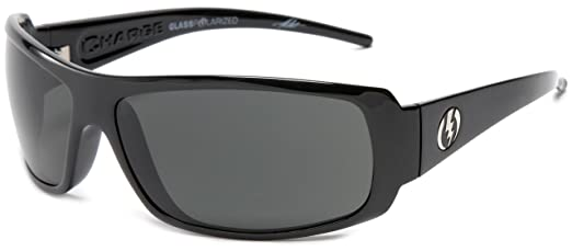 ce37a61bb09 Amazon.com  Electric Visual Charge Gloss Black Polarized Grey Glass ...