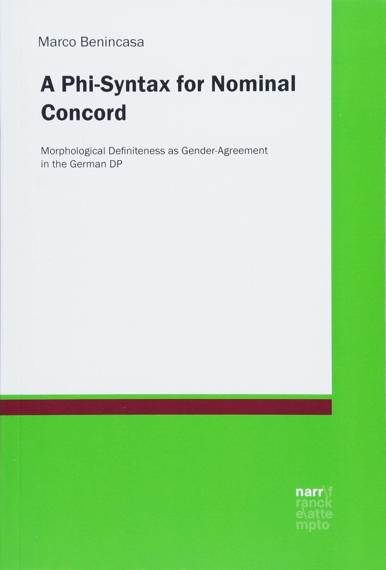 Read Online A Phi-Syntax for Nominal Concord ebook