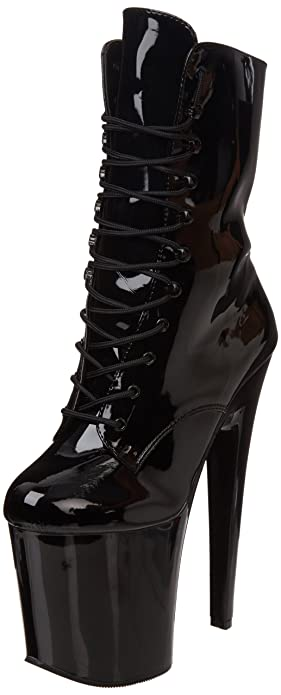 Pleaser Women's Xtreme-1020 Boot,Black Patent/Black,7 ...