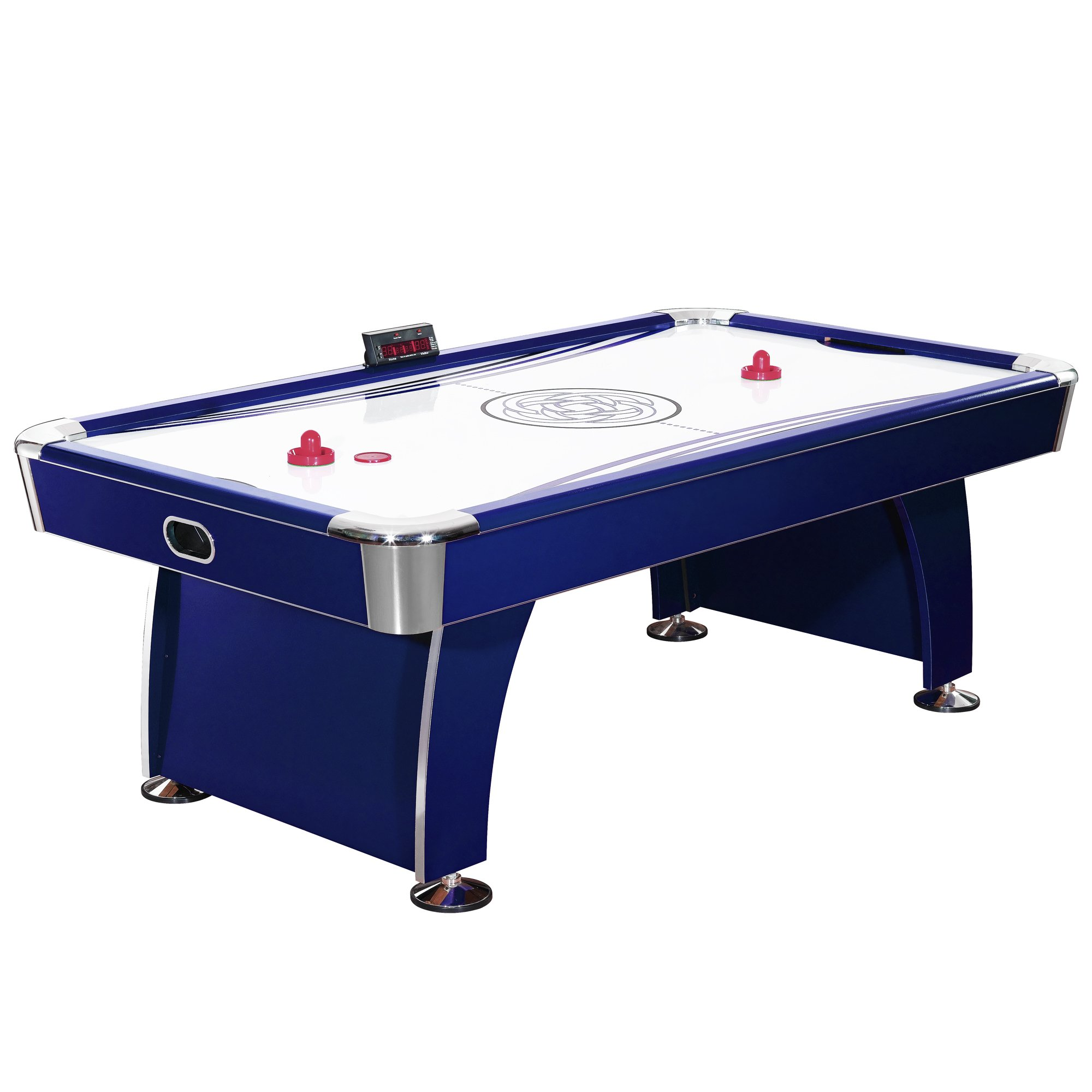 Hathaway Phantom 7.5-Foot Air Hockey Game Table for Kids and Adults, with Electronic Scoring, Dual Output Blowers, Automatic Return, Strikers and Pucks