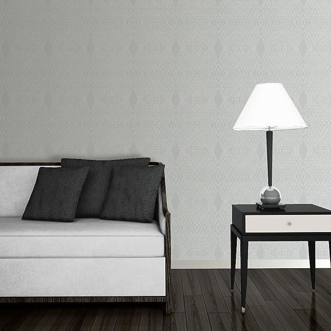 Debona Jewel Diamond Stripe Wallpaper Silver Metallic Glitter Embossed 2472